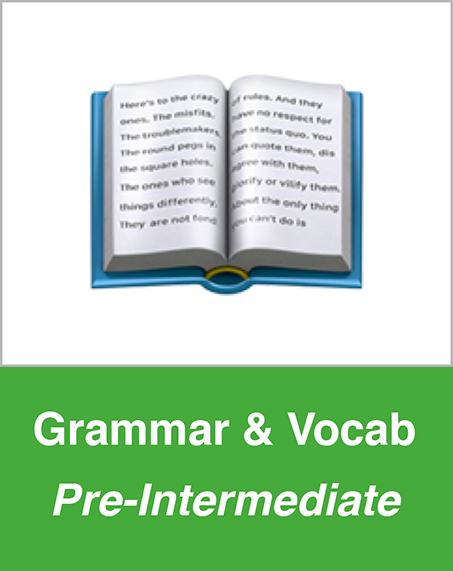 Grammar and Vocab